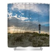 Sc Lighthouse View Shower Curtain