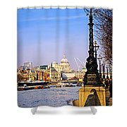 London View From South Bank Shower Curtain