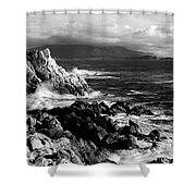 Lone Cypress On The Coast, Pebble Shower Curtain