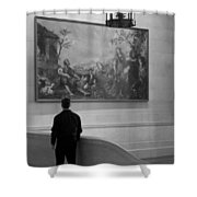 Looking At A Painting Shower Curtain
