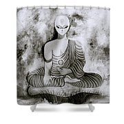 Lotus Position Shower Curtain