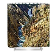 Lower Yellowstone Falls Shower Curtain
