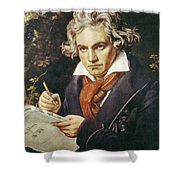 Ludwig Van Beethoven (1770-1827) Shower Curtain