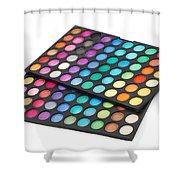 Makeup Color Palette Shower Curtain