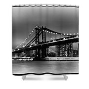 Manhattan Bridge New York City Shower Curtain