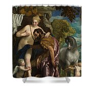 Mars And Venus United By Love Shower Curtain