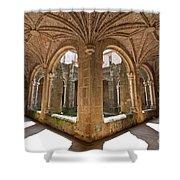 Medieval Monastery Cloister Shower Curtain