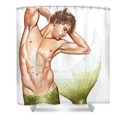 Merman Shower Curtain