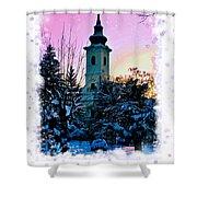 Christmas Card 22 Shower Curtain