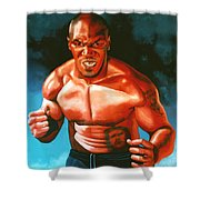 Mike Tyson Shower Curtain by Paul Meijering