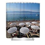 Mikro Kamini Beach Shower Curtain