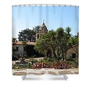 Mission San Carlos Borromeo Del Rio Carmelo Shower Curtain