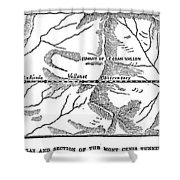 Mont Cenis Tunnel, 1871 Shower Curtain