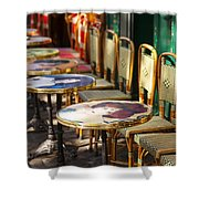 Montmartre Cafe Shower Curtain
