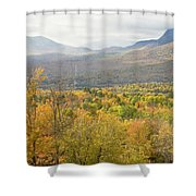 Mountains In Fall Mount Blue State Park Weld Maine Shower Curtain