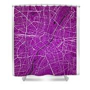 Munich Street Map - Munich Germany Road Map Art On Colored Backg Shower Curtain