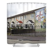 Mural In Shankill, Belfast, Ireland Shower Curtain