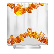 Natural Amber Necklace Shower Curtain