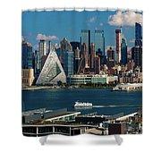 New York City Skyline As Seen Shower Curtain