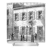 New York: Dispensary, 1868 Shower Curtain