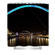 Newcastle Quayside And Sage Gateshead Shower Curtain