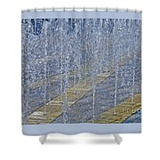 Noisy Splash Shower Curtain