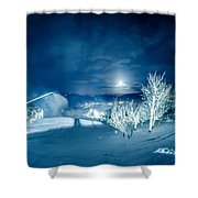 North Carolina Sugar Mountain Ski Resort Winter 2014 Shower Curtain