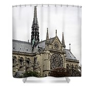 Notre Dame In Paris France Shower Curtain