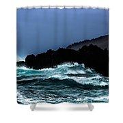 Ocean Foam In Fury Shower Curtain