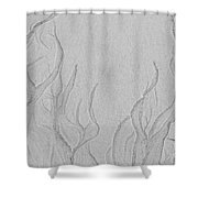 Ocean Sand Art Below Shower Curtain