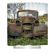 Old Junker Car Shower Curtain