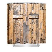Old Shutters Shower Curtain