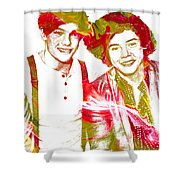 One Direction Shower Curtain