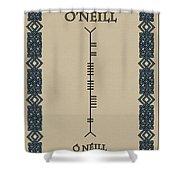 O'neill Written In Ogham Shower Curtain