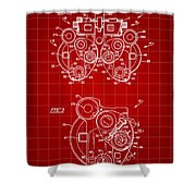 Optical Refractor Patent 1985 - Red Shower Curtain