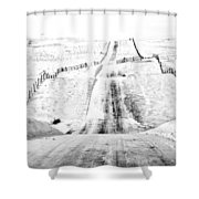 Over The Hill And Far Away Shower Curtain