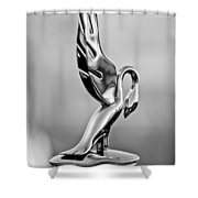 Packard Cormorant Hood Ornament Shower Curtain
