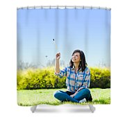 Painting The World Shower Curtain