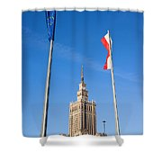 Palace Of Culture And Science In Warsaw Shower Curtain