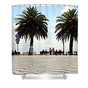Palm Tree Illusion Shower Curtain
