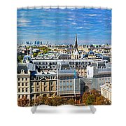 Paris Panorama France Shower Curtain