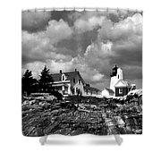 Pemaquid Point Lighthouse Shower Curtain by Skip Willits