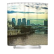 Philadelphia Skyline Shower Curtain