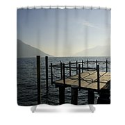 Pier In Backlight Shower Curtain
