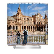 Plaza De Espana Pavilion In Seville Shower Curtain
