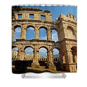 Pula, Istria County, Croatia. The Roman Shower Curtain