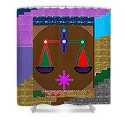 Pure Decorations Zodiac Symbol Art Shower Curtain