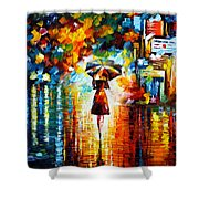 Rain Princess Shower Curtain by Leonid Afremov