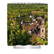 Riquewihr Alsace Shower Curtain by Brian Jannsen