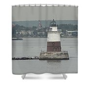 Robbins Reef Lighthouse Shower Curtain